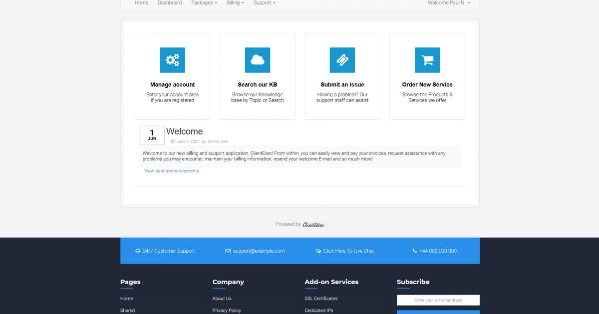 CloudServer ClientExec Theme 5.7.1